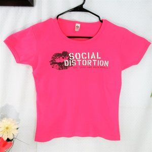 $15 2@ $25 Hot Pink  Social Distortion Graphic Tee